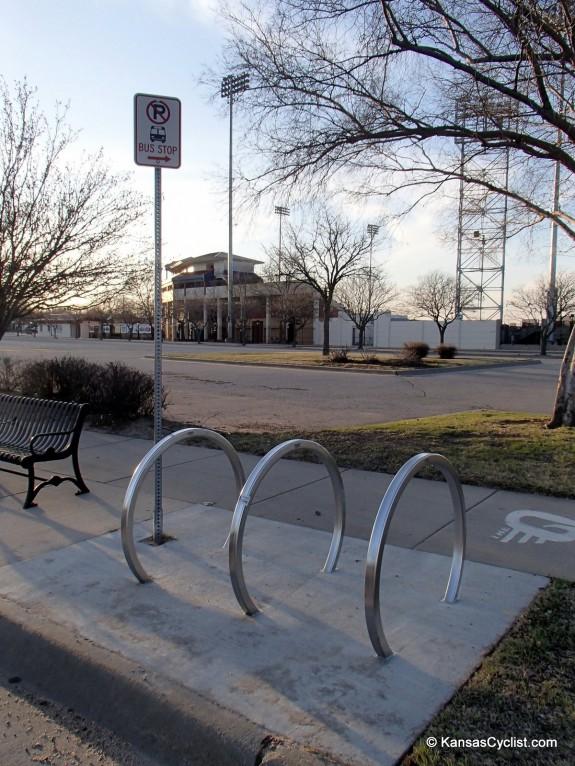 Wichita Bus Stop Bike Rack